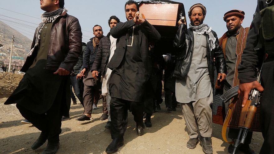 Obsèques de l'une des nombreuses victimes de l'attentat de Kaboul.