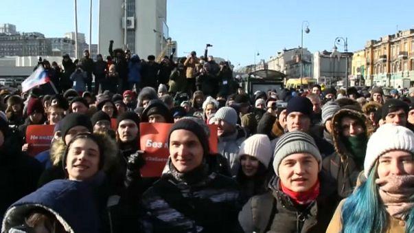 Protestas para boicotear las presidenciales rusas
