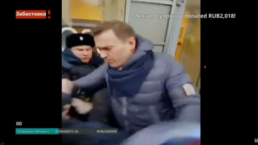 Putin-Kritiker Nawalny während seiner Verhaftung in Moskau