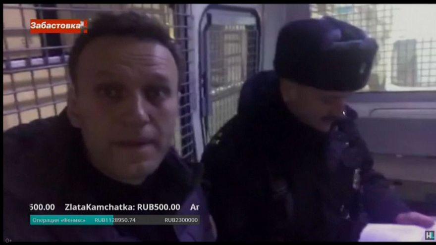 El líder opositor ruso Navalni, en libertad sin cargos tras una breve detención