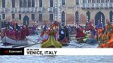 Rato gigante abre famoso Carnaval de Veneza