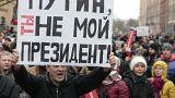 Milhares protestam na Rússia contra Vladimir Putin