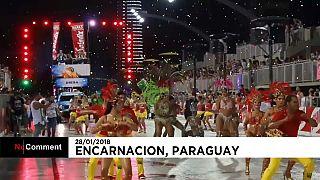 Nem a chuva estragou o carnaval do Paraguai
