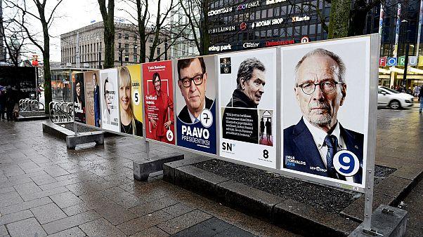 Választási plakátok Helsinkiben