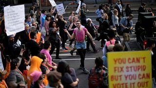 Washington'da Trump karşıtı göstericiler birleşti