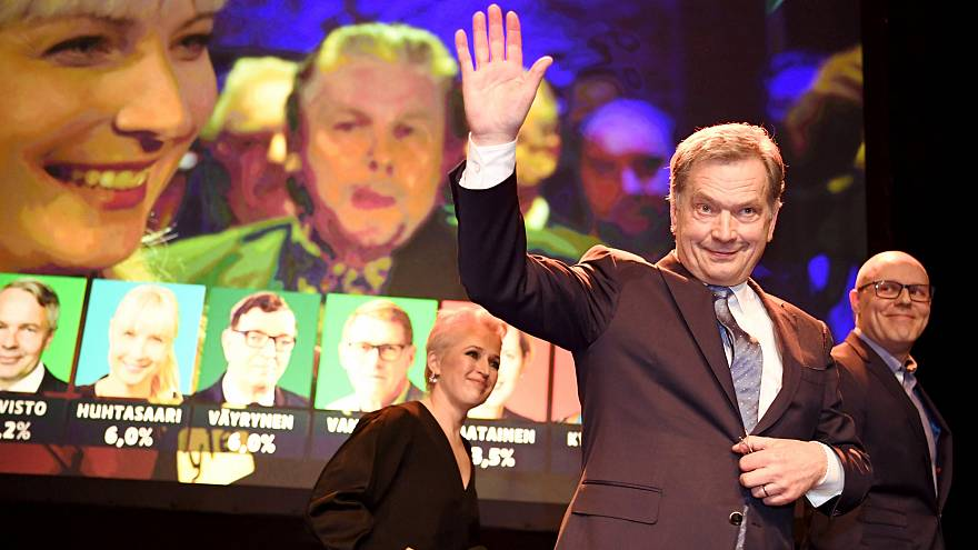Sauli Niinistö am Wahlabend