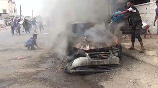 Yemen'in geçici başkenti Aden'de çatışma