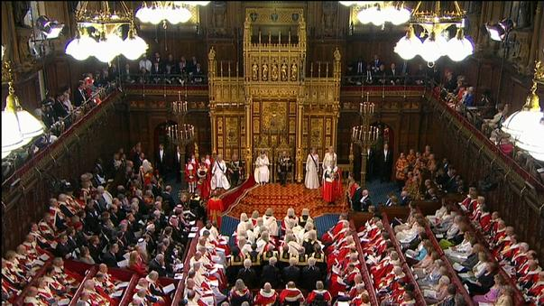 Queen Elizabeth II opens British parliament