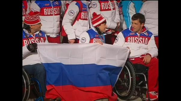 Fule of Russian Paralympic athletes