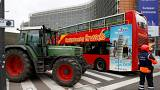 Traktoren statt Busse: Bauernproteste in Brüssel