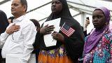 Cérémonie de naturalisation aux Etats-Unis