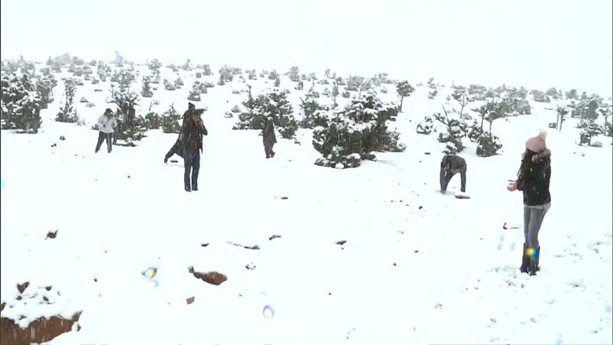 Зимний пейзаж в Марокко
