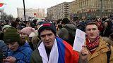 Apoiantes de Navalny saem à rua