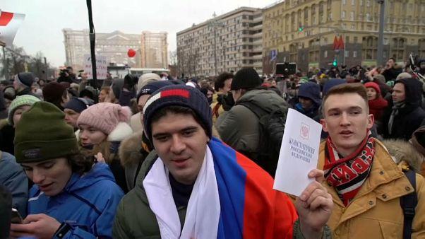 Russland: Demonstranten fordern Wahlboykott