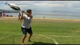 Lancer de thon en Australie