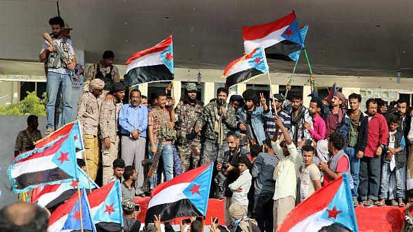 Apoiantes dos separatistas do Iémen do sul apoiam ação antigoverno em Áden