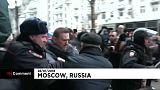 L'arrestation d'Alexeï Navalny à Moscou