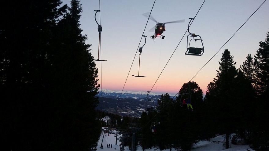 Autriche : 150 skieurs bloqués sur un téléphérique