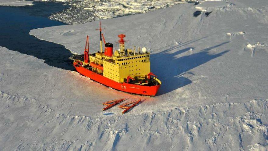 Argentine icebreaker pays tribute to missing submarine crew
