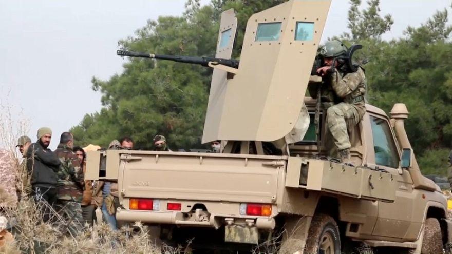 Turkish troops fighting Kurdish forces in Syria's Afrin region