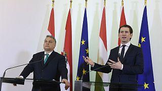 Európai szinten kezelné a vitákat Orbán és Kurz