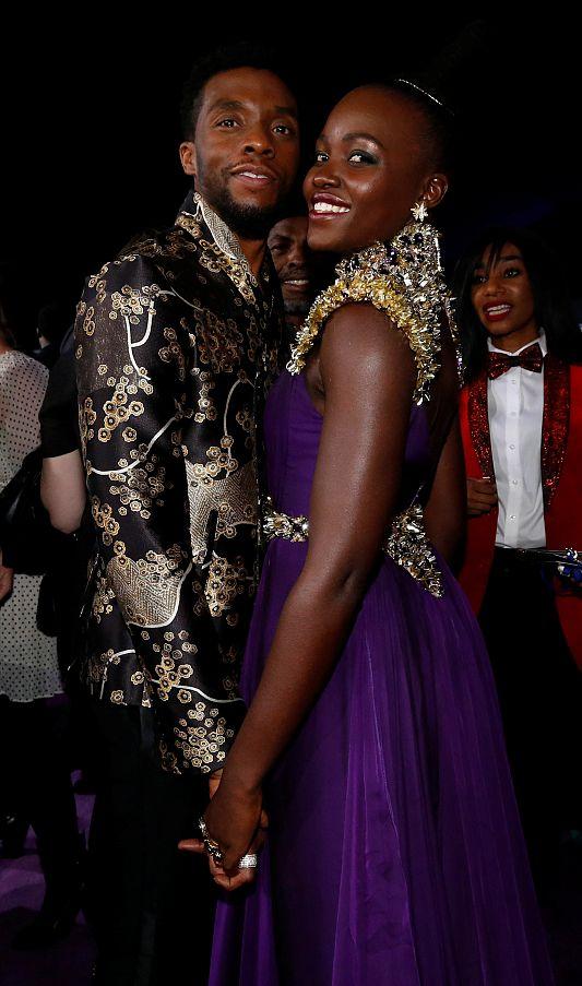 Chadwick Boseman e Lupita Nyong'o