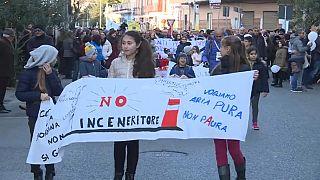 Proteste gegen Müllverbrennungsanlage in Sizilien
