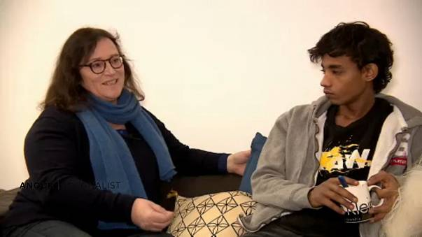Journalist Anouk and the 16-year-old migrant she is helping