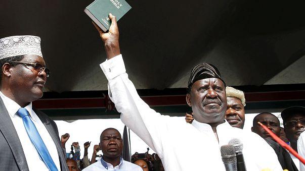 Raila Odinga investi par ses partisans