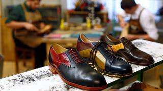 Handmade shoes with fish leather from Bavaria