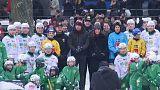 Kate e William giocano a hockey su ghiaccio a Stoccolma