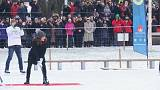 Kate beim Bandy Hockey in Stockholm