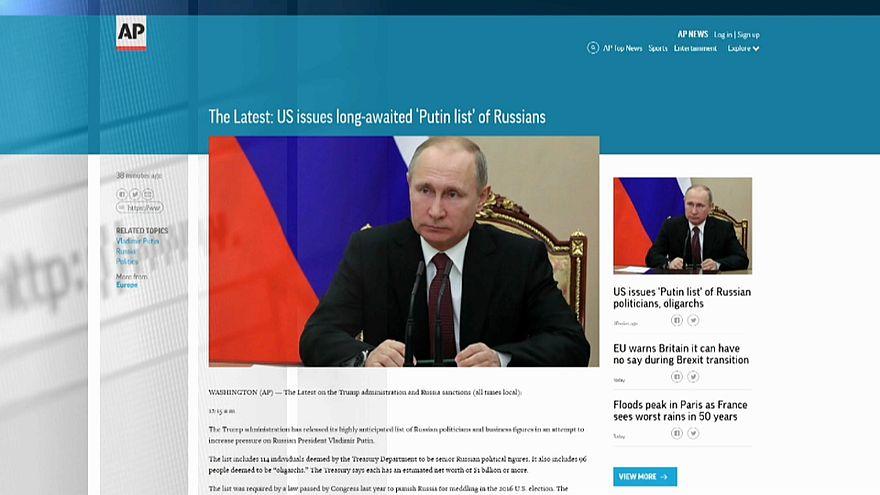 """Минфин США: за """"кремлевским списком"""" последуют санкции"""