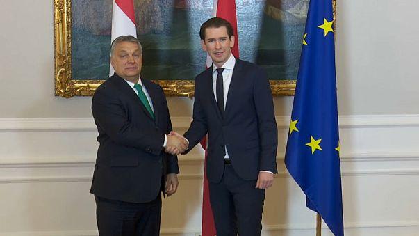 Austria's Kurz backs Hungary's Orban against EU migrant quotas