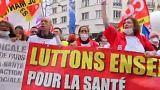 Ápolók tüntettek Franciaországban