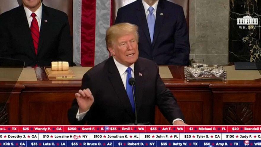 Trump angaria fundos durante discurso do Estado da União