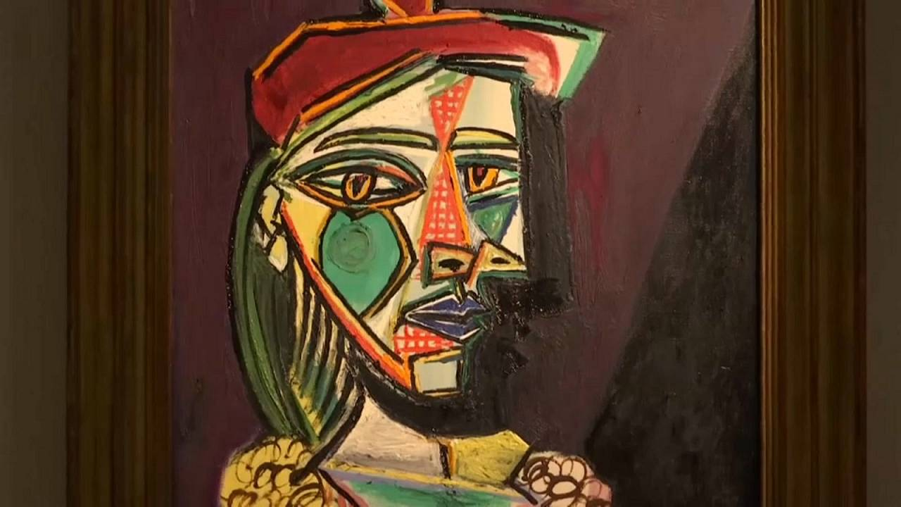 The painting depicts Picasso's Golden Muse Marie-Therese Walter
