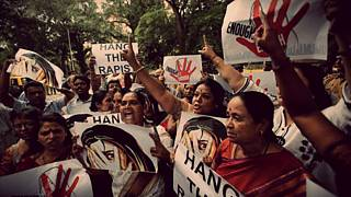Supporters of Republican Party of India (RPI) shout slogans during a protes