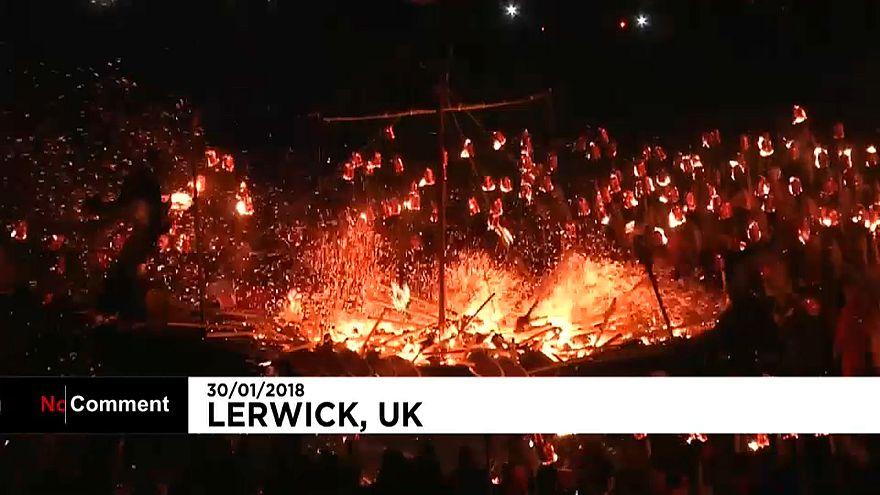Огненный фестиваль викингов в Шотландии