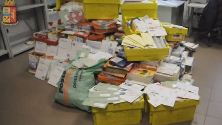 Italian police arrest postman after finding hundreds of undelivered mail at his home