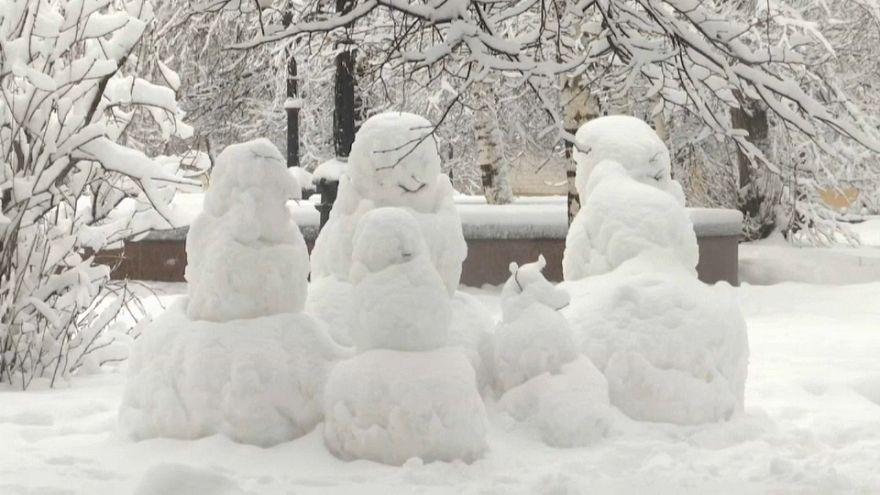 Москва под снегом