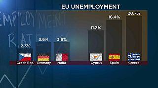 España duplica la media de paro de la Eurozona