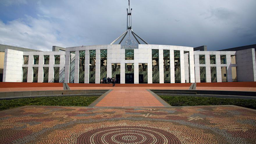 The Australian Parliament building in Canberra.