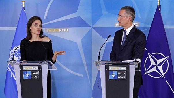 Violences sexuelles : Angelina Jolie à l'OTAN