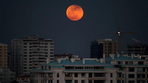 بخشی از ساکنان زمین شاهد دو پدیده شگرف «ابرماه خونین» و «ماه آبی» بودند