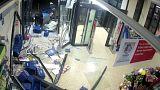 سرقت عابربانک از داخل یک فروشگاه با لندروور سرقتی
