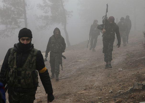 اعضای گروه ارتش آزاد سوریه که مورد حمایت ترکیه قرار دارند