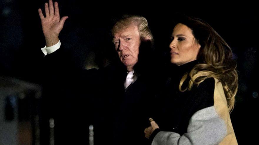 """ميلانيا ترامب تظهر """"بوجه بارد"""" بعد إشاعة الخيانة"""