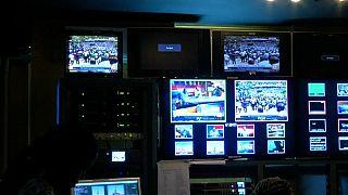 Kenyan TV station control room