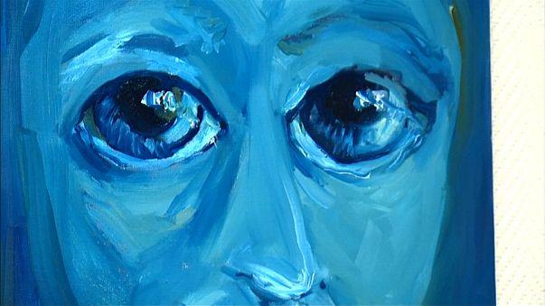 Une peinture de l'artiste syrienne Lina Aljijakli